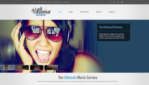 Web Design for Ultima Music